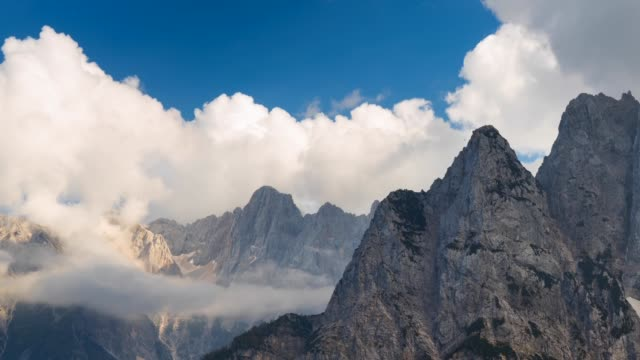 View of Triglav National Park in autumn