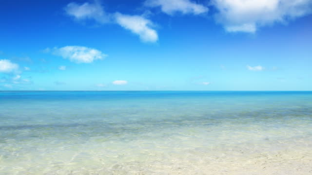 ws t/l view of tropical island / aitutaki, cook islands - horizont stock-videos und b-roll-filmmaterial