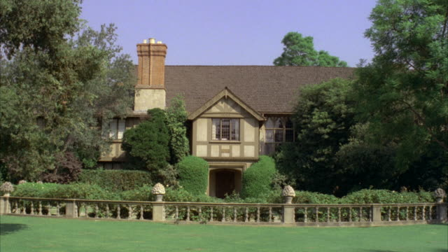 MS View of Tudor style mansion / Los Angeles, California, United States