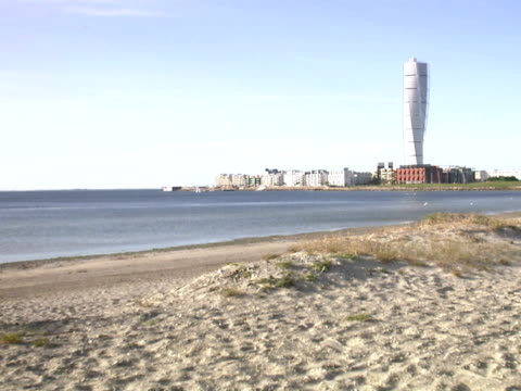 View of Turning Torso Malmo Sweden.