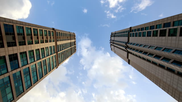 View of two skyscrapers in Chungjeong-ro road