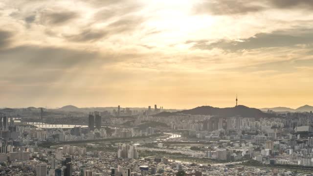 View of Tyndall phenomenon on Seoul City