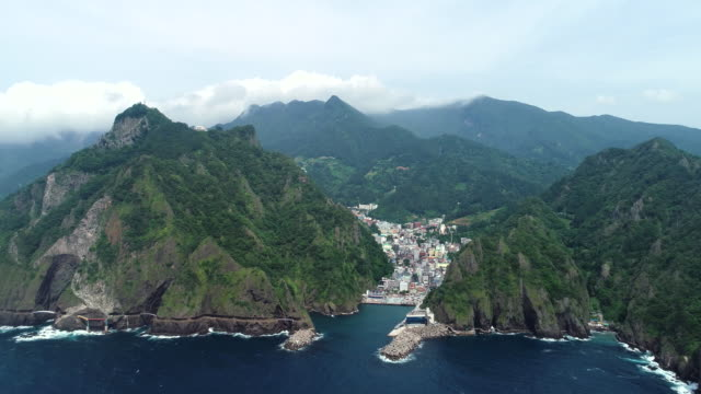 View of Ulleungdo Island (The sole island-city in the Korea's East Sea) Dullegil Trail and Village