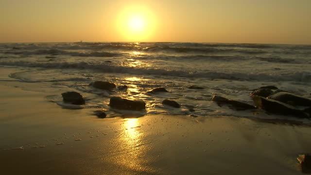 WS View of Umhlanga beach at sunset / Kwazulu-Natal, South Africa