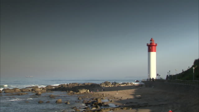 WS View of Umhlanga lighthouse along with sea / Durban, Kwazulu-Natal, South Africa