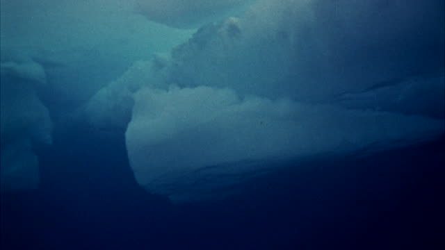 ms view of under sea - iceberg ice formation stock videos & royalty-free footage