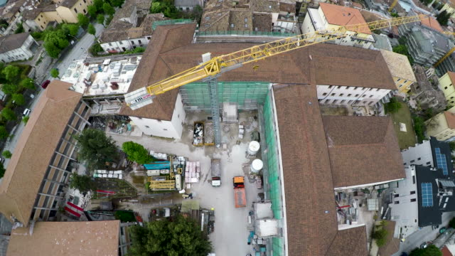 a view of university college of don bosco in l'aquila on may 11 2017 under reconstruction after the 2009 l'aquila earthquake - aquila video stock e b–roll