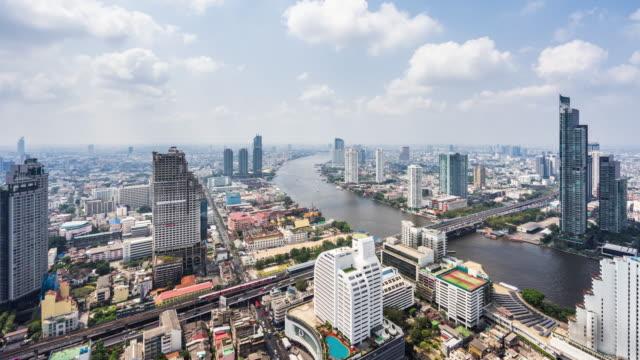 t/l ws ha view of urban skyline / bangkok, thailand - bangkok stock-videos und b-roll-filmmaterial