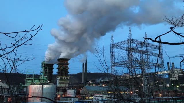 A view of US Steel Clairton Works March 11 2018 in Clairton Pennsylvania Clairton Works is the largest coal coking facility in North America and...