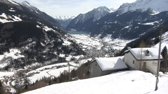 view of val poschiavo seen from the bernina train - train point of view stock videos & royalty-free footage