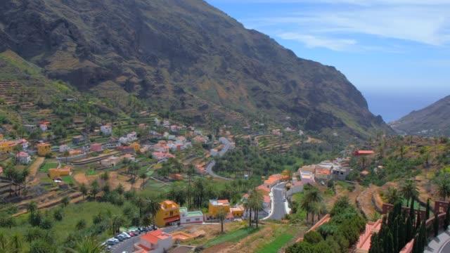 view of valle gran rey on canary islands la gomera in the province of santa cruz de tenerife - spain - hair accessory stock videos & royalty-free footage