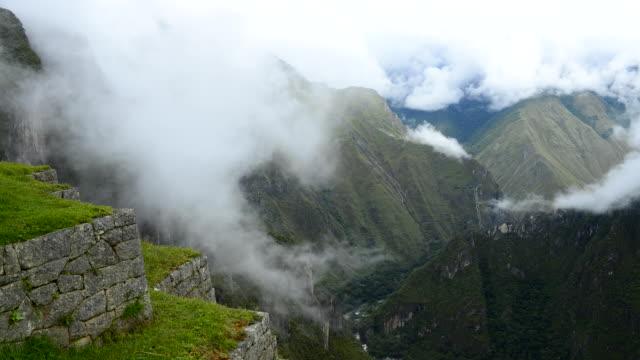 WS T/L View of valley at Machu Picchu / Machu Picchu, Peru