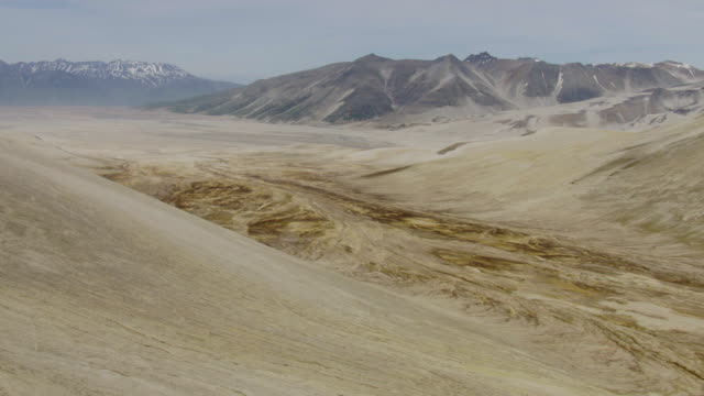 WS AERIAL View of Valley of Ten Thousand Smokes / Alaska, United States