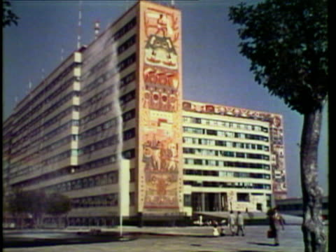 1953 WS View of various buildings, University of Mexico, modern Acapulco, resorts / Acapulco, Mexico / AUDIO