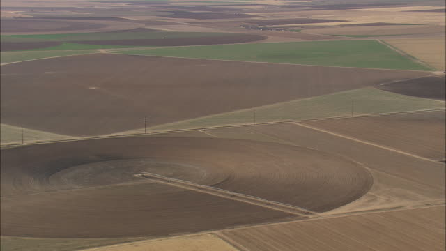 WS AERIAL View of Various farming / Texas, United States