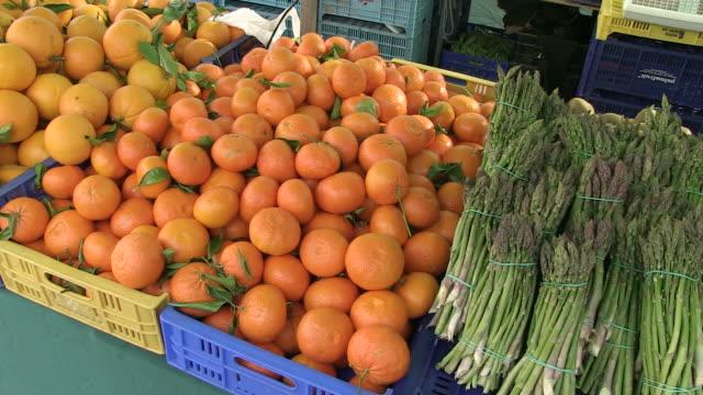 MS PAN View of various fruits at market  / Pollenca, Mallorco Baleric Island, Spain