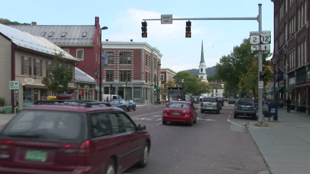 View of vehicles passing in Montpelier Vermont United States
