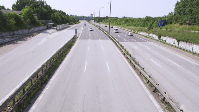 ws view of vehicles passing on motorway / copenhagen, denmark - highway stock videos & royalty-free footage
