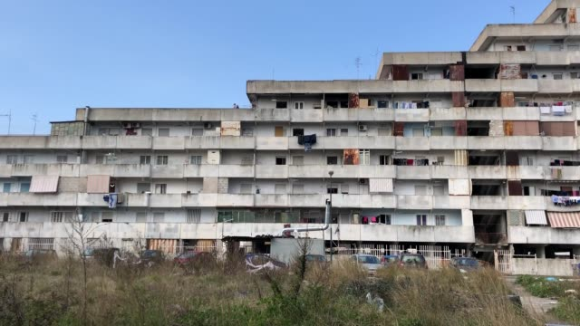 a view of vele in scampia naples italy on march 3 2019 - luoghi geografici video stock e b–roll