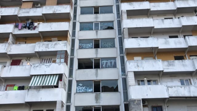 a view of vele in scampia naples italy on march 3 2019 - mafia stock videos and b-roll footage