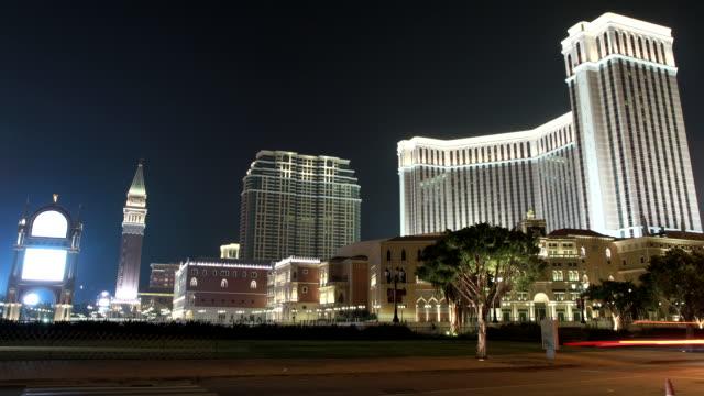 WS T/L ZI View of Venetian Hotel at night / Macau