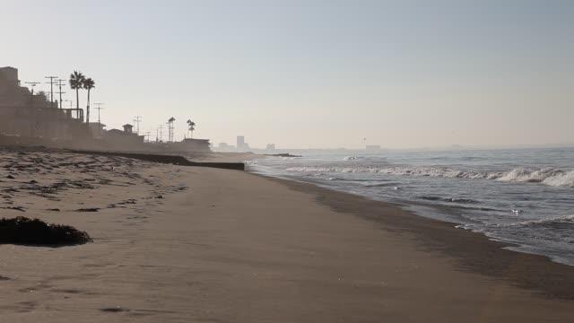 View of Venice Beach from Malibu beach seen in Los Angeles California USA