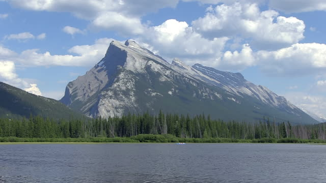 WS View of Vermillion Lakes with Mount Rundle / Banff Nationalpark, Alberta, Canada