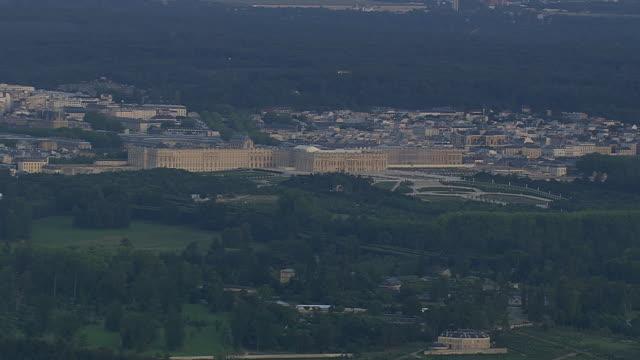 WS AERIAL View of Versailles / Paris, France