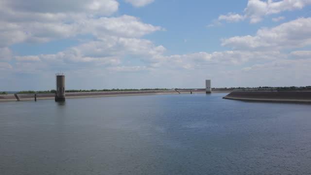 ws view of vianden pump storage plant, upper reservoir 1 / vianden, diekirch, luxembourg - reservoir stock videos & royalty-free footage