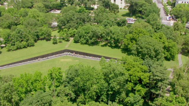 Ws Aerial Pov View Of Vietnam Veterans Memorial Washington Dc United States High Res Stock Video Footage Getty Images