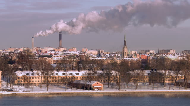 ws view of view of the city of stockholm / stockholm, fennoscandia, sweden - scandinavia stock videos & royalty-free footage