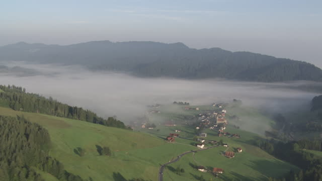 WS POV PAN View of village / Einsiedeln, Schwyz, Switzerland