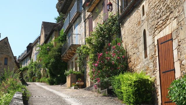 view of village / france - french culture stock videos & royalty-free footage