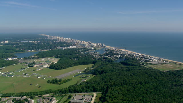 ws aerial zi zo view of virginia beach / virginia, united states - virginia beach stock videos & royalty-free footage