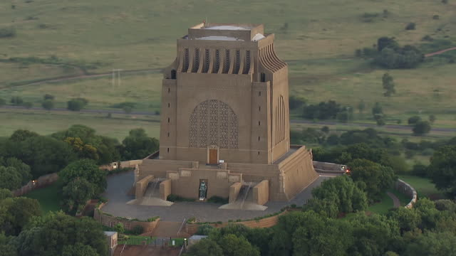 MS AERIAL DS View of Voortrekker Monument / Pretoria, Gauteng, South Africa