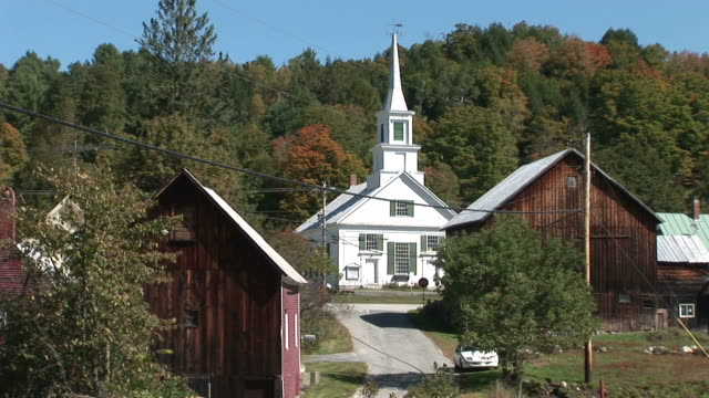 View of Waits River church in Vermont United States