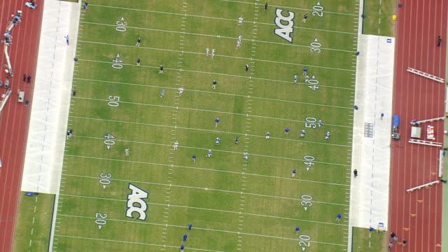 WS AERIAL ZO View of Wallace Wade Stadium / North Carolina, United States