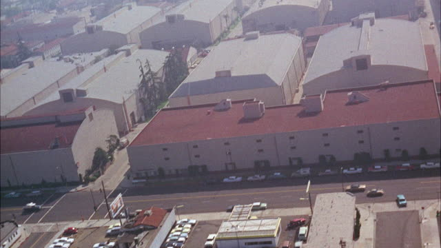 aerial view of  warners bros. studio / washington d.c. united states - warner bros stock videos and b-roll footage
