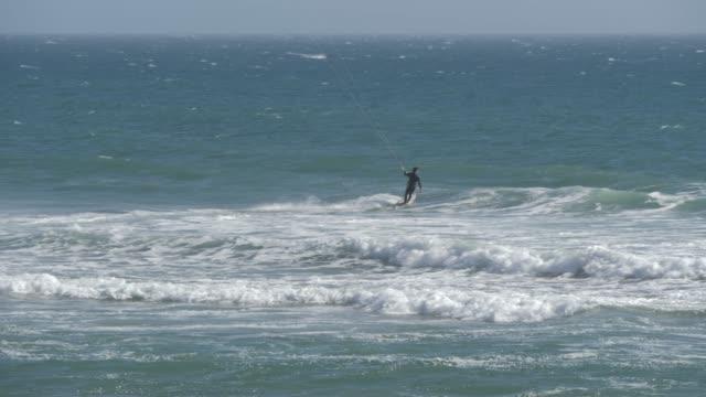 View of water sport near Half Moon Bay, California, United States of America, North America