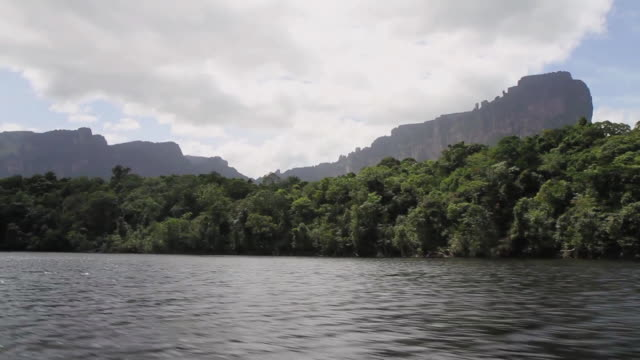 POV view of water towards Grantepuy / Canaima / Los roques,Bolivar State, Venezuela