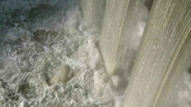 ms view of waterfall / saarburg, rhineland-palatinate, germany  - saarburg stock-videos und b-roll-filmmaterial
