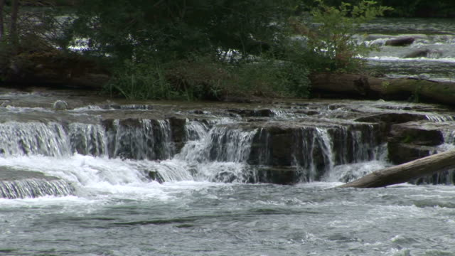 view of waterfalls in new york united states - fluss niagara river stock-videos und b-roll-filmmaterial