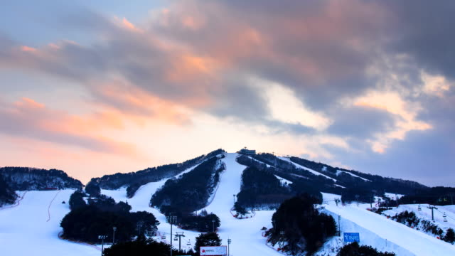 view of wellihillipark snow park (famous resort for skiing) - pyeongchang stock videos and b-roll footage