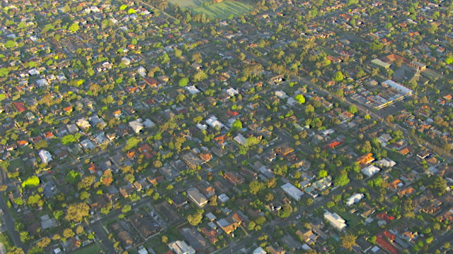 ws aerial view of werribee suburb / melbourne, victoria, australia - suburban stock videos and b-roll footage
