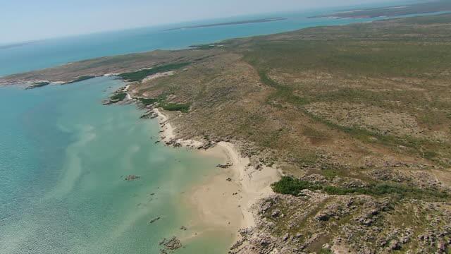 AERIAL WS View of Western Australia Coastline (Truscott) / Truscott, Western Australia, Australia
