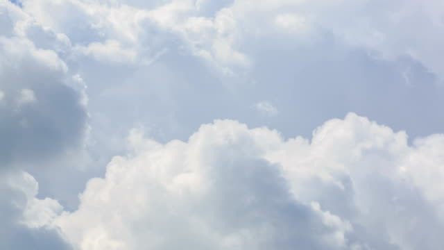 view of white cumulus cloud rising up - cumulus cloud stock videos & royalty-free footage