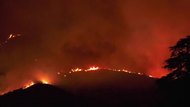 CA: 20500 Acre Fire Burns in Cherry Valley