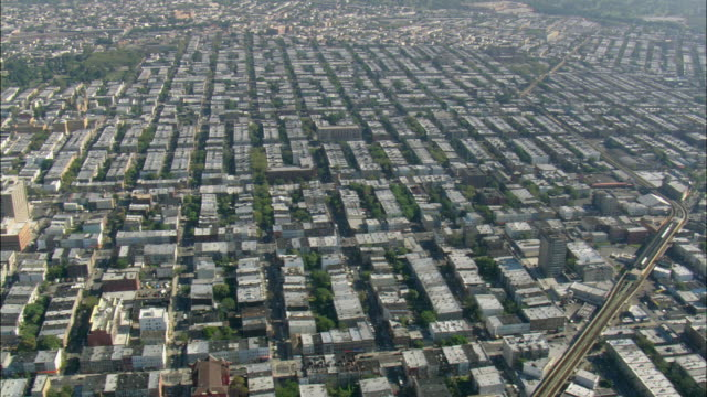 aerial view of williamsburg / brooklyn, new york city, new york, usa - brooklyn new york stock videos & royalty-free footage