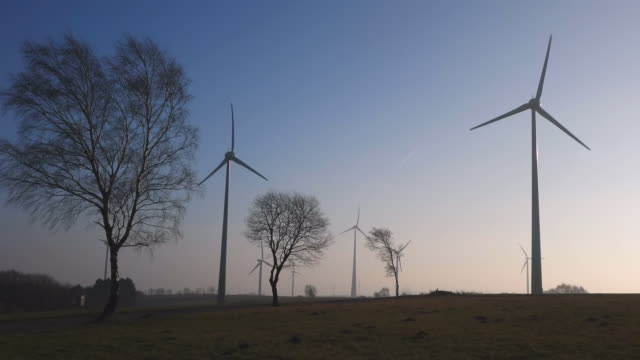 stockvideo's en b-roll-footage met ws view of wind turbines / kirf, rhineland palatinate, germany - middelgrote groep dingen
