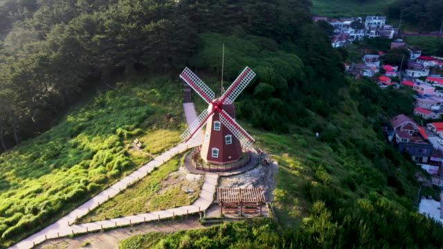 view of windy hill in geoje island, south korea - ankrad bildbanksvideor och videomaterial från bakom kulisserna
